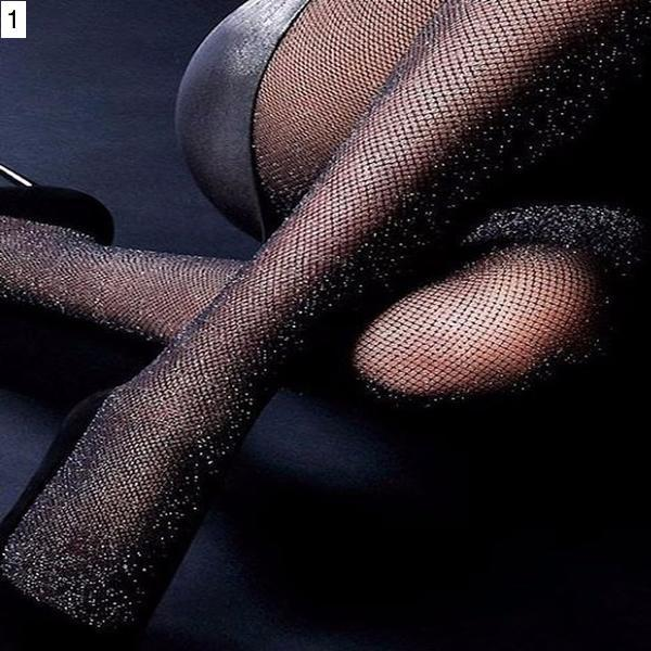 Shiny Carnival Fishnet Stockings - crown-modern