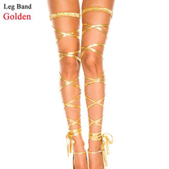 Neon Crystal Carnival Swimwear Leg Band & Body Chain