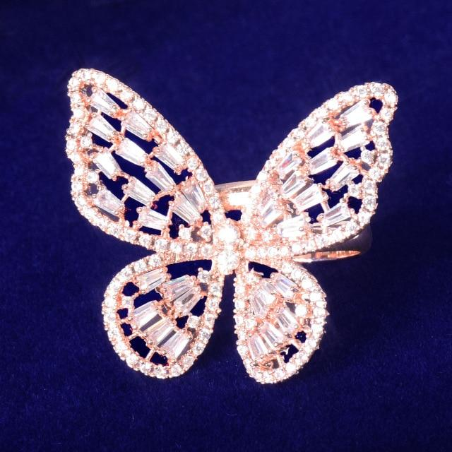Baguette Butterfly Ring