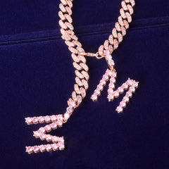 Barbie Iced Letter Cuban Necklace