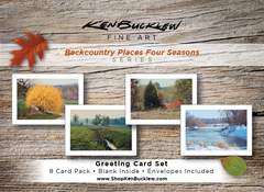 Backcountry Places Four Seasons - Greeting Card Set (8 Cards and Envelopes)