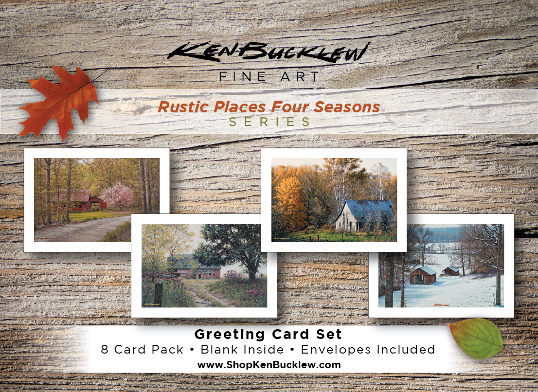 Rustic Places Four Seasons - Greeting Card Set (8 Cards and Envelopes)