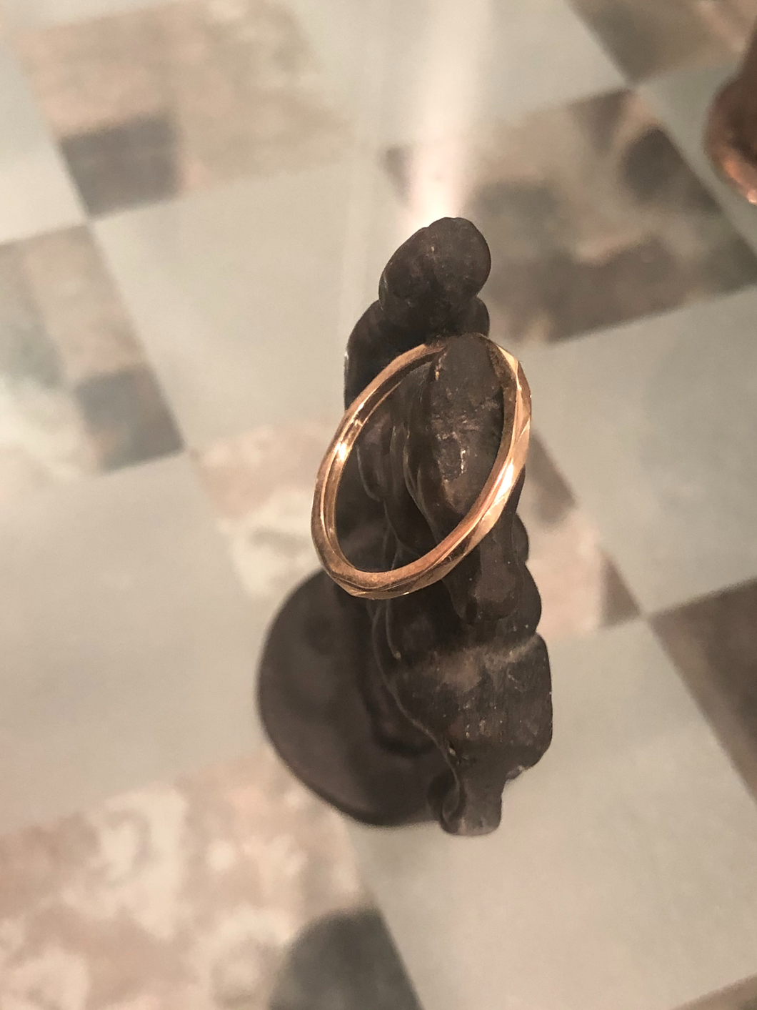 Stackable 14k gold ring