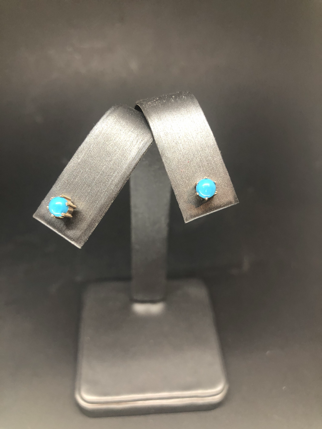 Turquoise Gold Stud Earrings