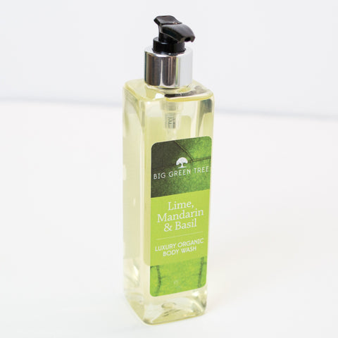 Body Wash - Lime, Mandarin and Basil - Organic (250ml) - Love Roobarb
