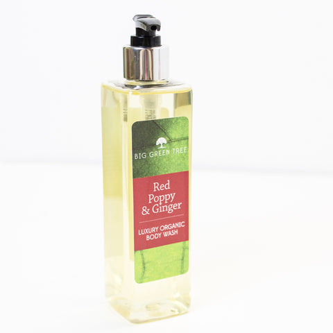 Body Wash - Red Poppy & Ginger - Organic (250ml) - Love Roobarb
