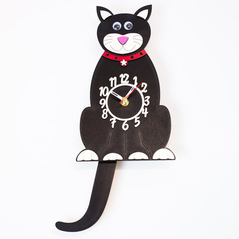 Clock - Black Cat