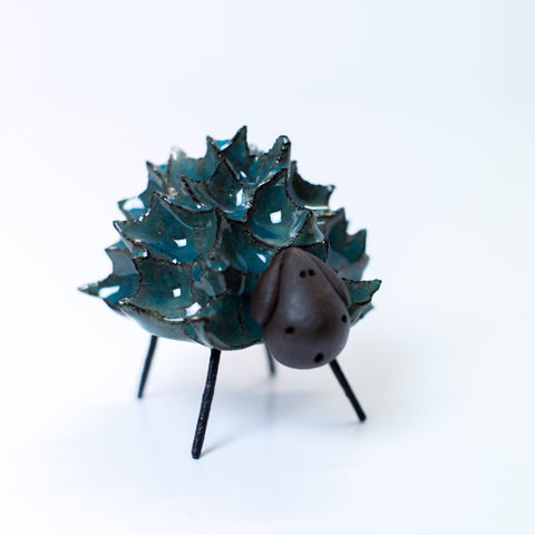 Ceramic Spikey Sheep - Blue