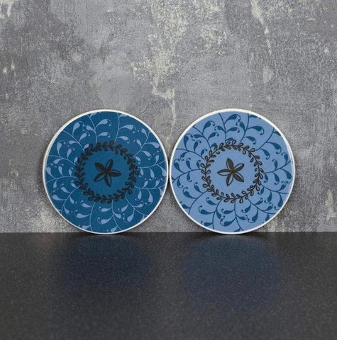 Coasters - Blue and Gold