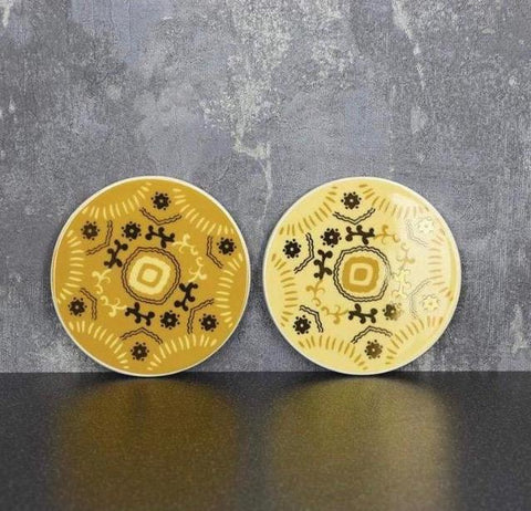 Coasters - Ochre and Gold