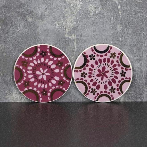 Coasters - Plum and Gold