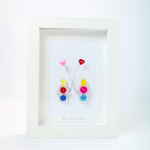 Button Frame - Mr & Mrs