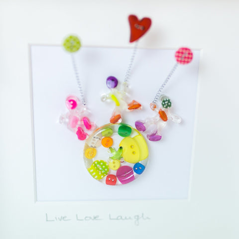 Button Frame - Live Love Laugh - Love Roobarb