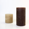 Pair of Pillar Candles - Chocolate and Caramel