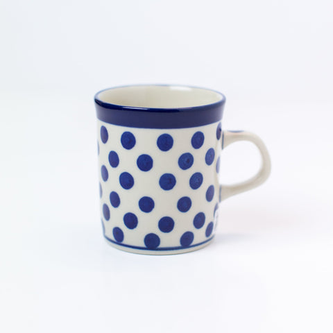 Cup - Espresso - Small Blue Dot