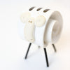 Ceramic Sheep - White with Black Stripes