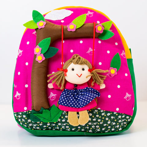 Children's Backpack - Girl on a Swing