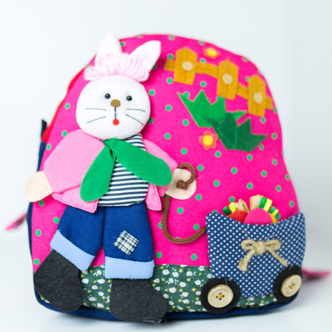 Children's Backpack - Bunny with Cart