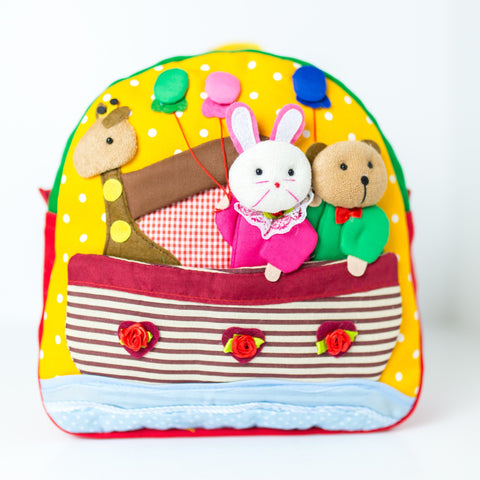 Children's Backpack - Bear and Bunny in an Ark