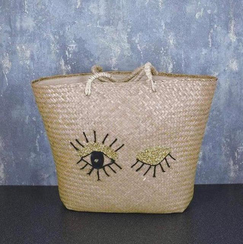 Eyelash Tote Bag - Black and Gold