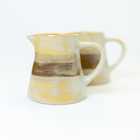 Cream & Milk Jug - Pale Mustard