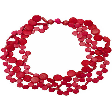 Necklace - Three Strand Coco Shell