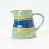Cream & Milk Jug - Pale Aqua and Sea Blue