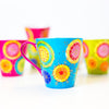 Tea Cups - Set of Six - Carnival Design