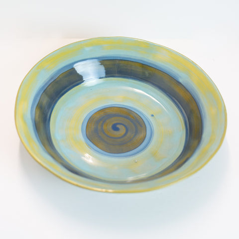 Bowl - (Large) Pale Aqua and Sea Blue