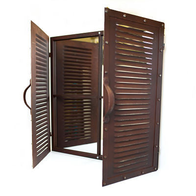 Mirror - Louvered Door