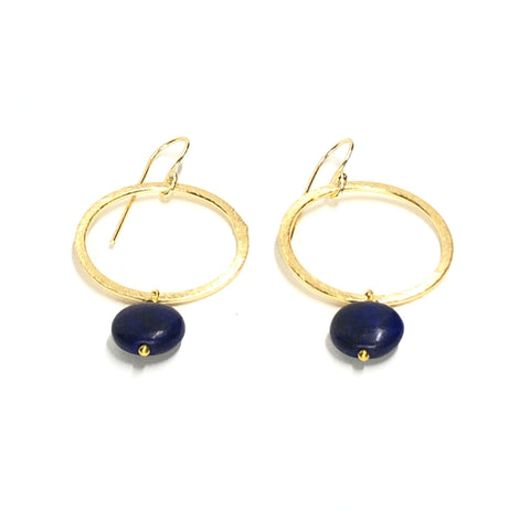 Earrings - Lydia Navy Howlite