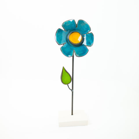 Ceramic Flower - Blue