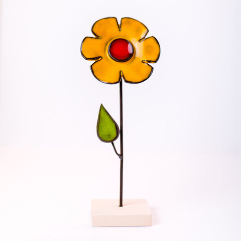 Ceramic Flower - Yellow