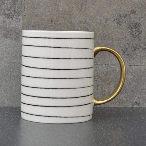 Mug - Monochrome Stripe - Love Roobarb