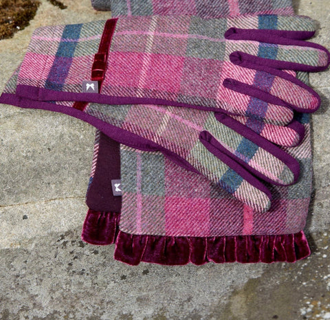 Tweed Gloves - Mulberry