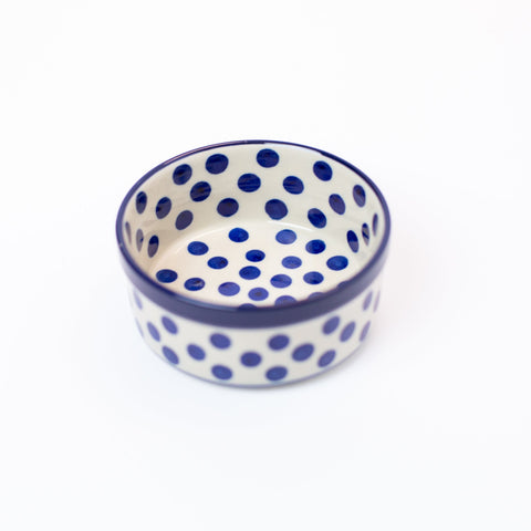 Ramekin Dish - Small Blue Dots
