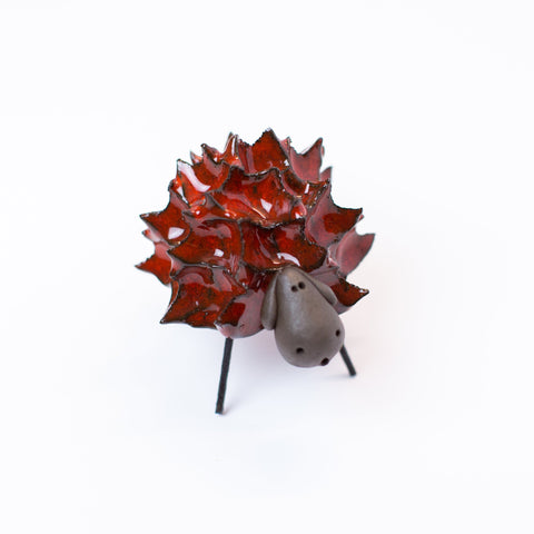 Ceramic Spikey Sheep - Red