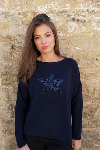 Jumper - Navy Sequin Star