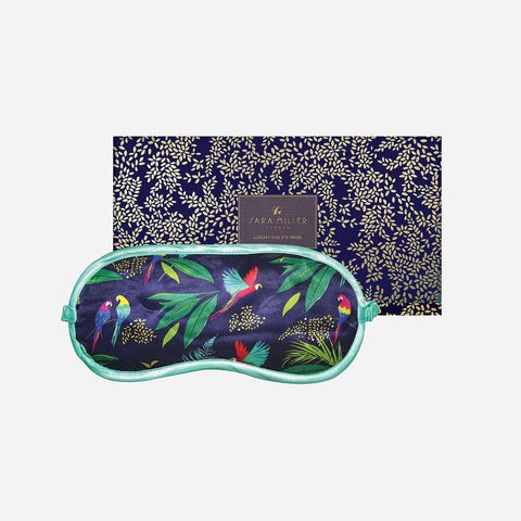 Silk Eye Mask by Sara Miller - Parrot