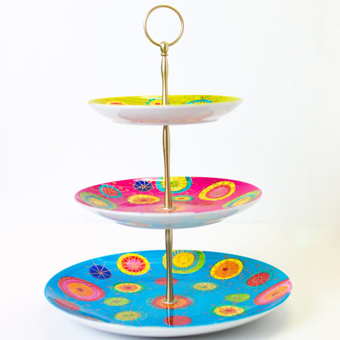 Cake Stand - Three Tier - Carnival Design