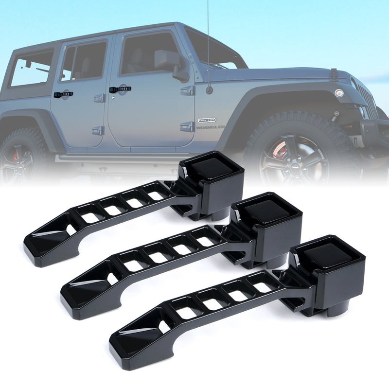 Xprite 3 Piece Storm Series Heavy Duty Aluminum Door Handle Set for 07-18 Jeep Wrangler JK