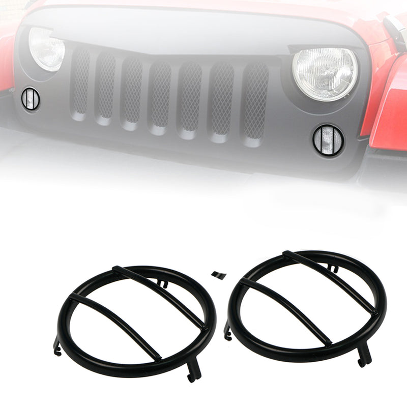 Xprite Black Turn Signal Guards for 2007 - 2018 Jeep Wrangler JK