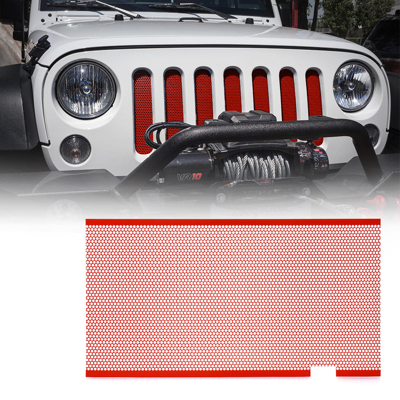 Xprite Red Stainless Steel Mesh Insert For Jeep Wrangler JK JKU 2007-2018 Original Grille