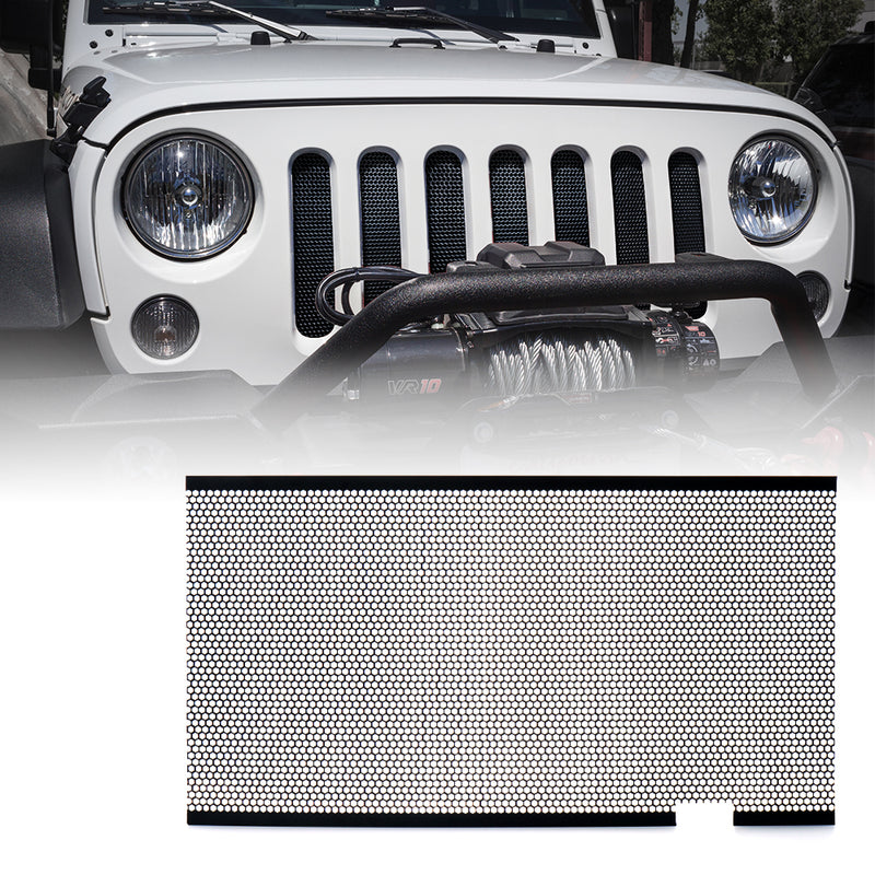 Xprite Black Stainless Steel Mesh Insert For Jeep Wrangler JK JKU 2007-2018 Original Grille