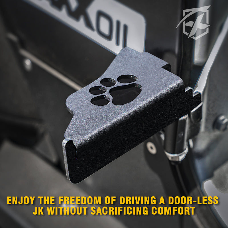Xprite Front Foot Pegs with Paw Print for 2007-2018 Jeep Wrangler JK