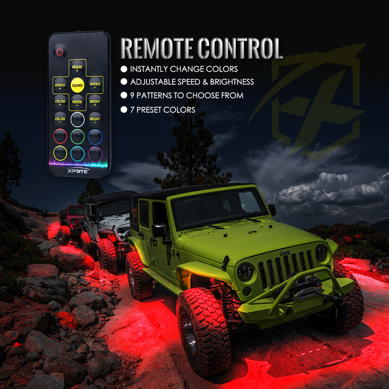 Xprite Z-Force Remote Control RGB LED Rock Lights