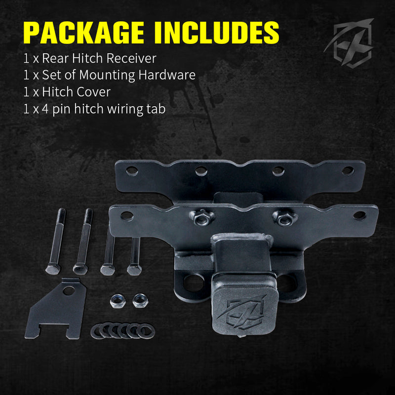 Xprite 2 Inch Rear Receiver Tow Hitch for 2018-2020 Jeep Wrangler JL JLU