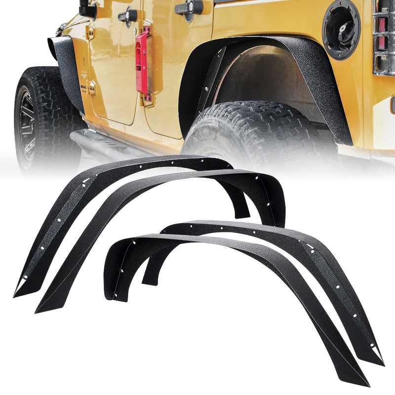 Xprite Grind Series Steel Fender Flare Kit for 07-18 Jeep Wrangler JK