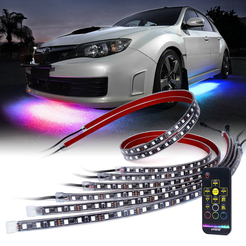 Xprite Retro Series LED RGB Dancing Underbody Glow Kit with Remote Control