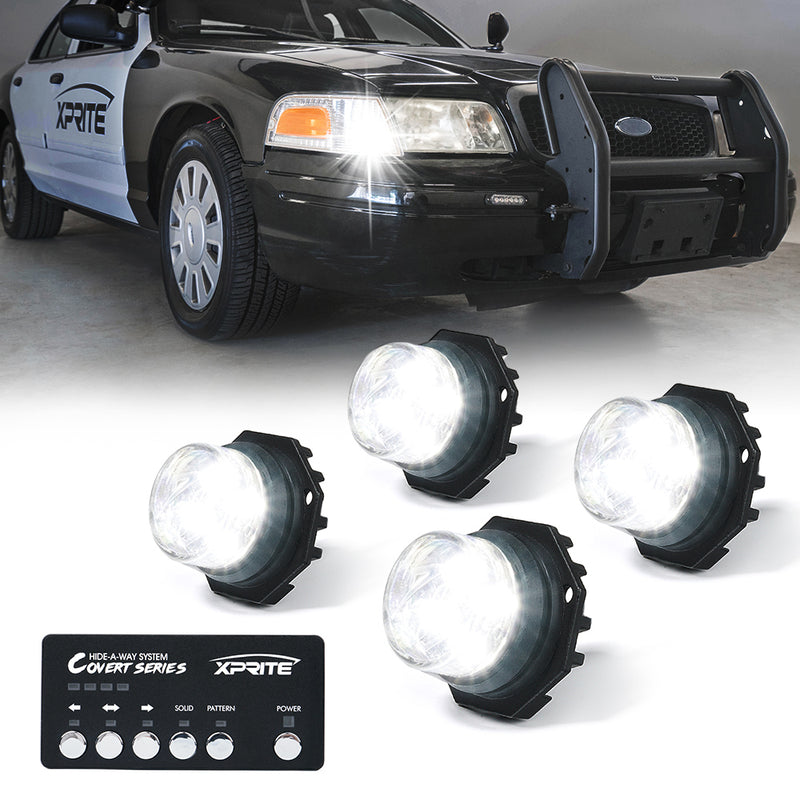 Xprite Covert 4 Series Hide-A-Way LED Strobe Lights